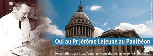 Professeur Lejeune au Panthéon